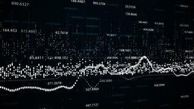 Financiële cijfers en diagrammen die stijgende winsten tonen Stock Foto's