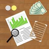 Financiële controlevector Stock Afbeeldingen