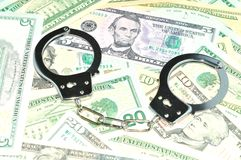 Financiële criminaliteit Stock Foto