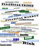 Financiële crisis Royalty-vrije Stock Foto