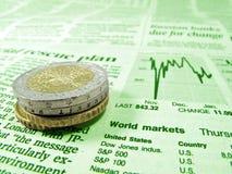 Financiële crisis Royalty-vrije Stock Foto's