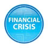 Financiële Crisis bloemen blauwe ronde knoop stock illustratie
