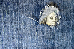 Financiële crisis: het gat is in begroting Royalty-vrije Stock Afbeeldingen