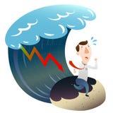 Financiële crisis met zakenman Royalty-vrije Stock Foto's