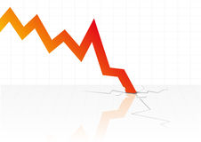 Financiële crisisvector Royalty-vrije Stock Foto