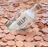 Financiële crisisvraag naar hulp stock afbeeldingen