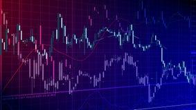 Financiële diagrammen Stock Fotografie