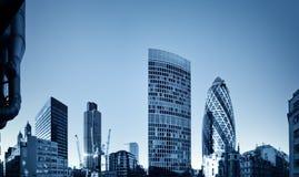 Financiële discrict van Londen. Stock Foto