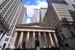 Financiële district van de Zaal van Wall Street het Federale Royalty-vrije Stock Foto's