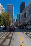 Financiële Districtsgebouwen en straten in San Francisco California de V.S. Skyscrappers in San Francisco Financial District Royalty-vrije Stock Afbeeldingen