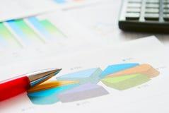Financiële documenten stock afbeeldingen