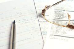Financiële documenten Stock Foto's