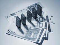 Financiële domino Stock Foto