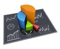 Bedrijfs grafiek Stock Afbeeldingen