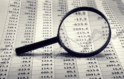 Financiële en economiegrafieken Stock Afbeeldingen