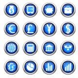 Financiële geplaatste pictogrammen vector illustratie