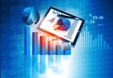 Financiële grafiek en grafieken royalty-vrije stock foto's