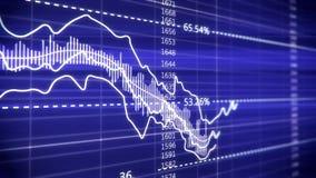 Financiële grafiek op het scherm van de computermonitor vector illustratie