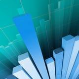 Financiële grafiekachtergrond Stock Foto