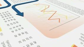 Financiële grafieken stock illustratie