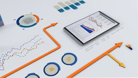 Financiële grafieken stock video