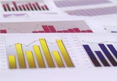 Financiële grafieken royalty-vrije stock afbeeldingen