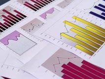Financiële grafieken royalty-vrije stock afbeelding