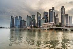 Financiële het districtshorizon van Singapore Stock Foto's