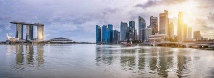 Financiële het districtshorizon van Singapore Royalty-vrije Stock Foto's