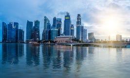 Financiële het districtshorizon van Singapore Stock Afbeeldingen