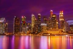 Financiële het districtshorizon van Singapore Royalty-vrije Stock Foto
