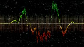 Financiële instrumentengrafieken met divers type van indicatoren stock illustratie