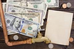 Financiële lasten voor water Stock Foto