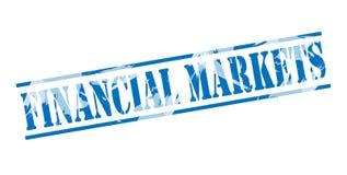 Financiële markten blauwe zegel royalty-vrije illustratie