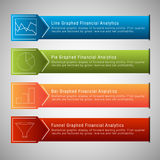 Financiële Menureeks Stock Foto's