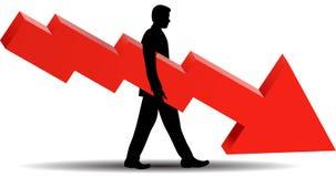 Financiële Mislukking - vectorillustratie Royalty-vrije Stock Foto