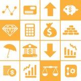 16 financiële Moderne Stijl Royalty-vrije Stock Afbeelding