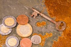 Financiële Muntstukken Royalty-vrije Stock Afbeeldingen
