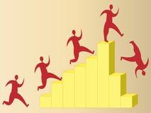 Financiële neerstorting Stock Foto