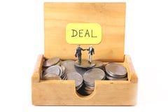 Financiële overeenkomst stock afbeelding