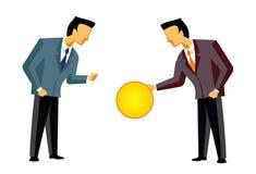 Financiële overeenkomst Stock Foto's