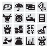 Financiële pictogrammen Royalty-vrije Stock Fotografie