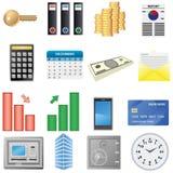 Financiële pictogrammen Stock Foto's