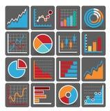 Financiële pictogrammen Royalty-vrije Stock Foto's