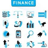 Financiële pictogrammen royalty-vrije illustratie