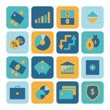 Financiële pictogrammen Stock Afbeeldingen