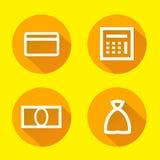 Financiële pictogrammen geplaatst voor om het even welk gebruik groot Vector eps10 Stock Foto