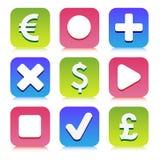 Financiële pictogrammen geplaatst voor om het even welk gebruik, Vectoreps10 groot Stock Fotografie
