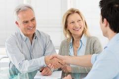 Financiële planning en overeenkomst Royalty-vrije Stock Fotografie
