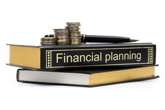 Financiële planningsboek royalty-vrije stock foto's
